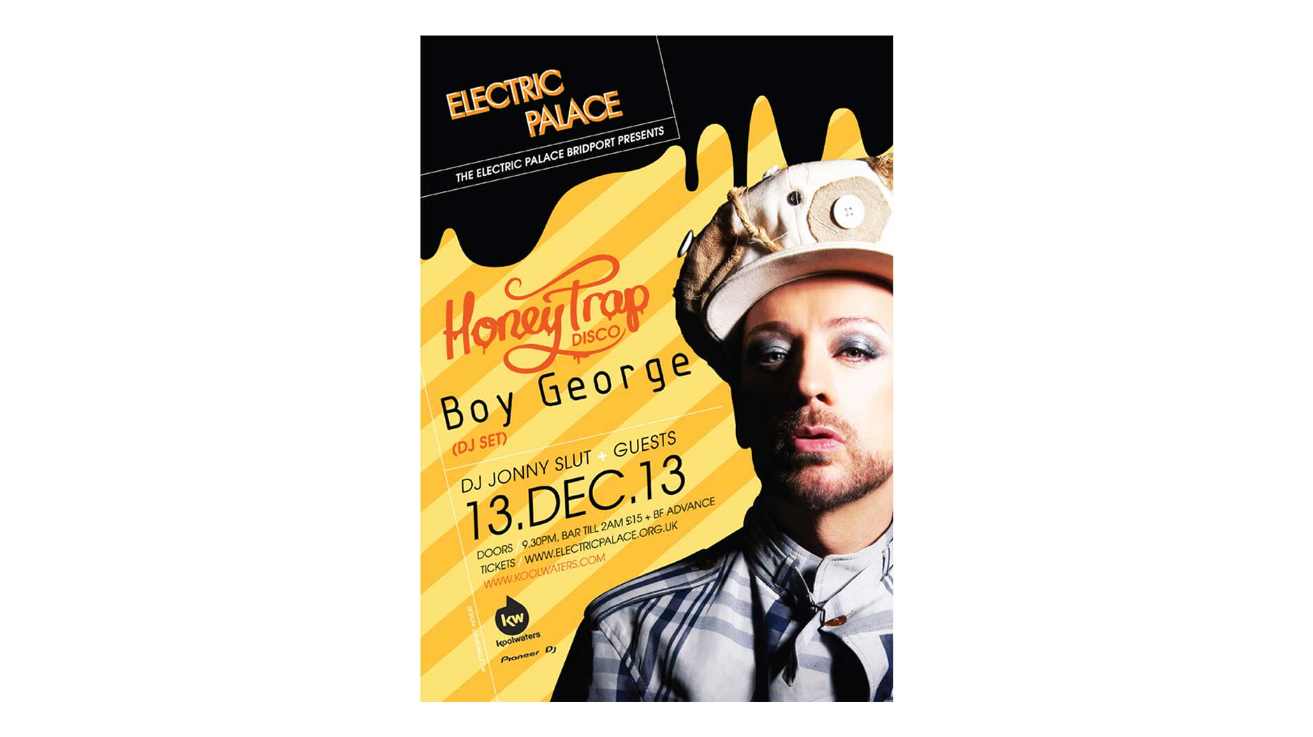 Electric Palace Boy George poster design