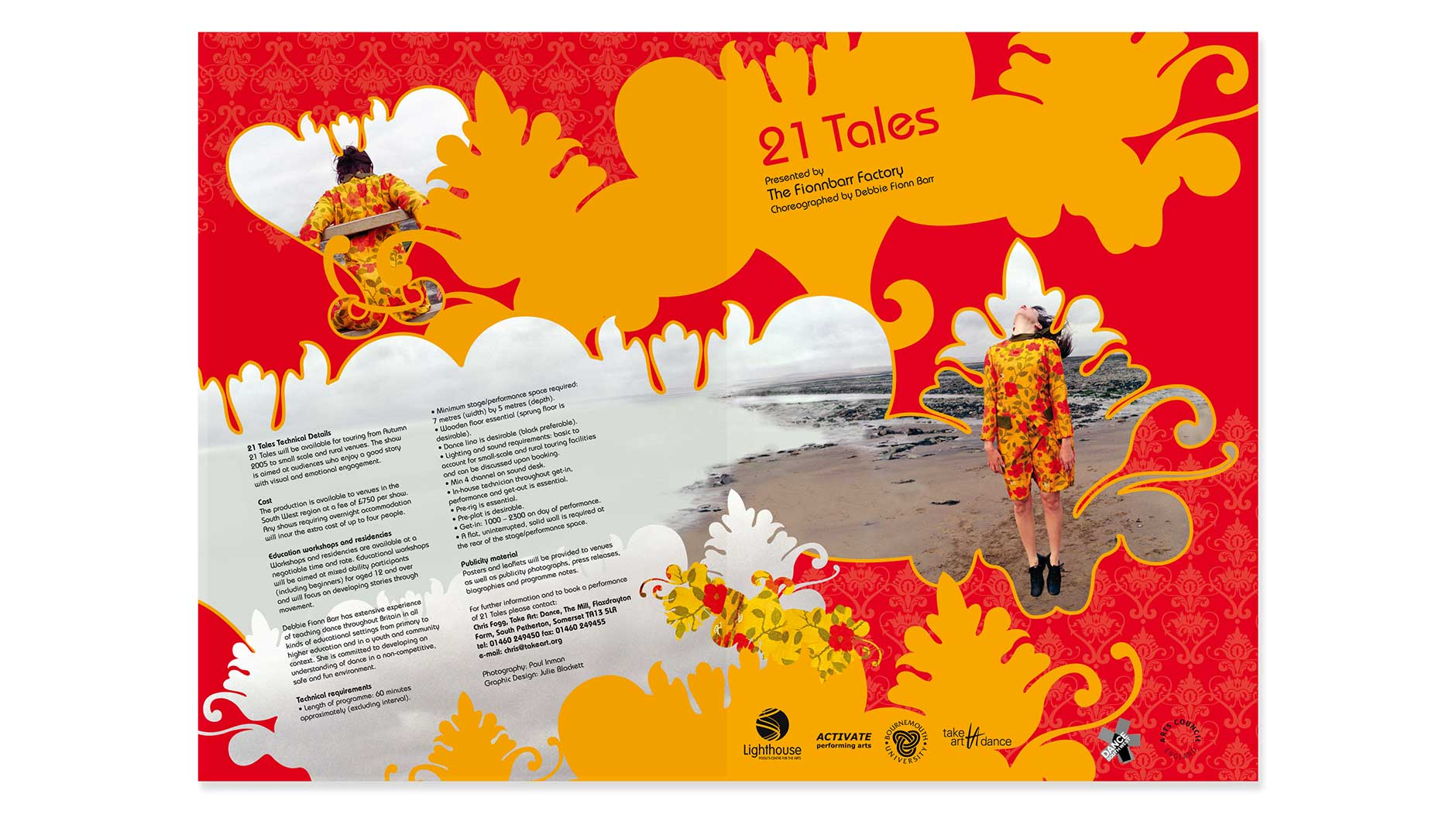 21 Tales brochure design outside covers