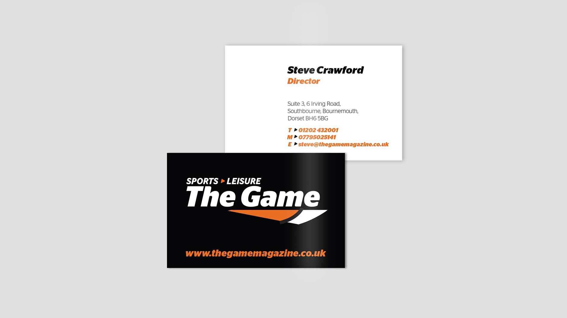The Game Magazine business cards