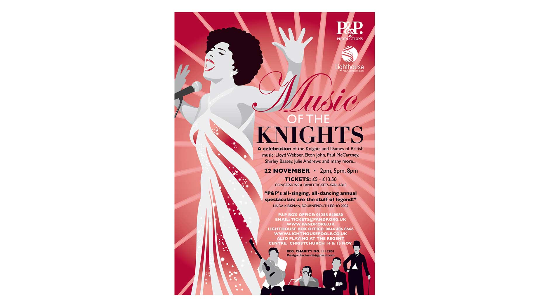 Music of the Knights poster design