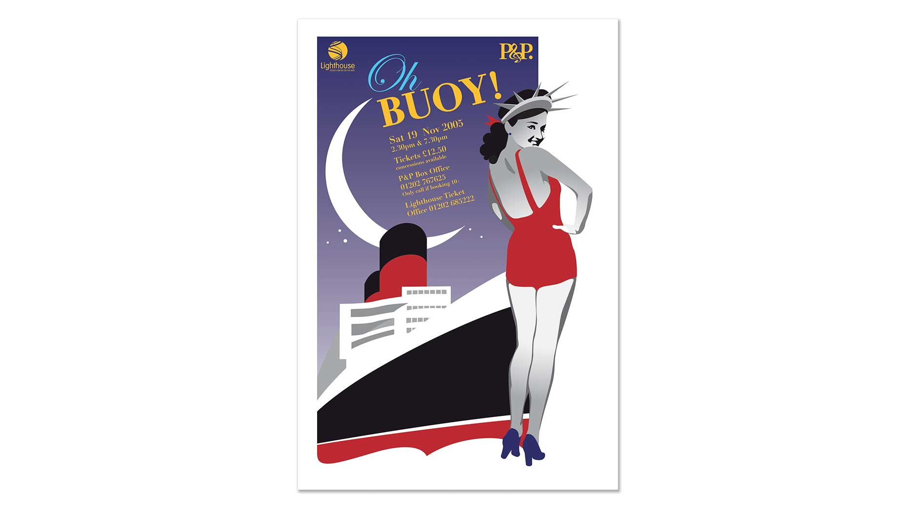 Oh Buoy poster design