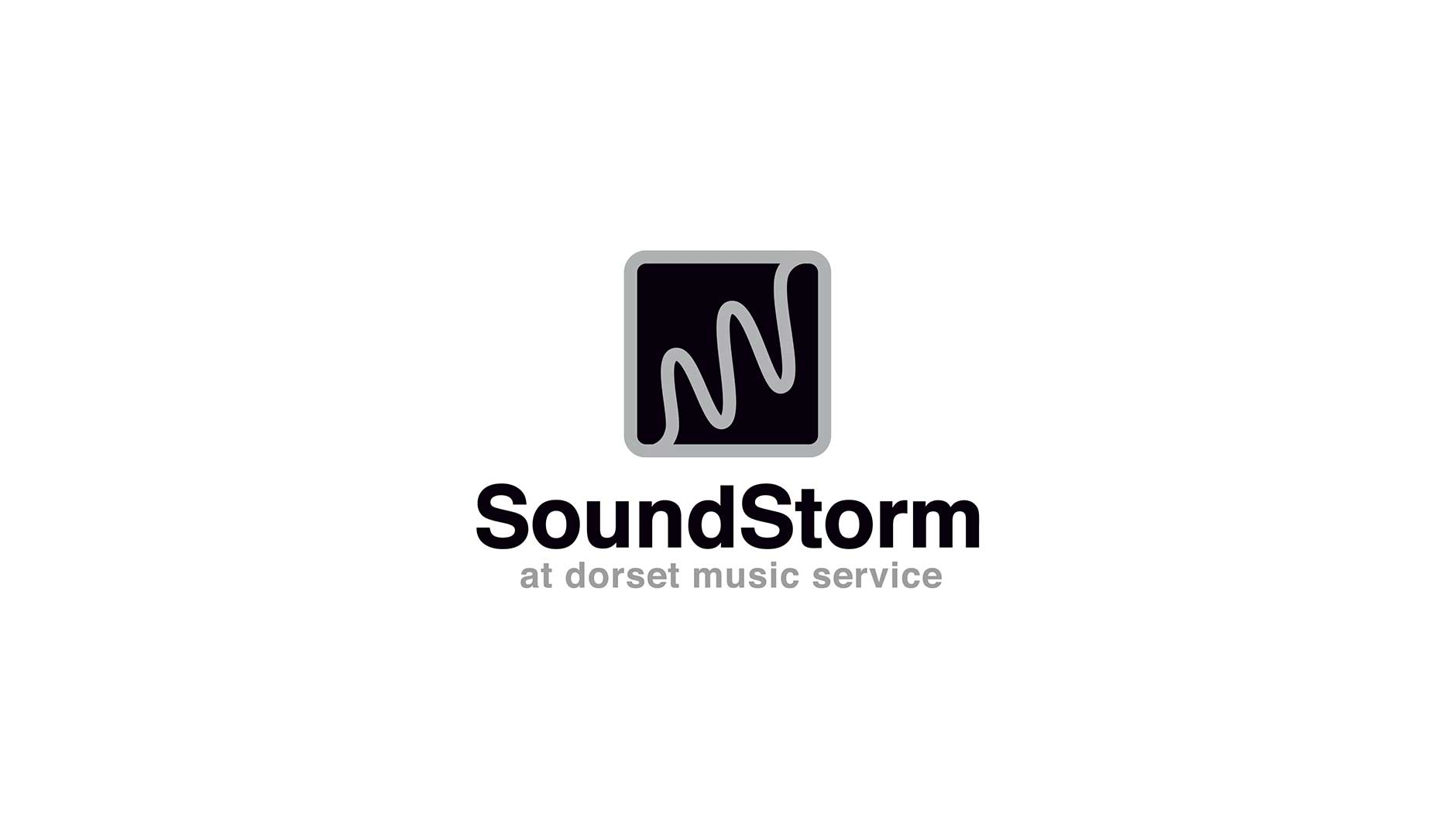 Soundstorm black and white logo