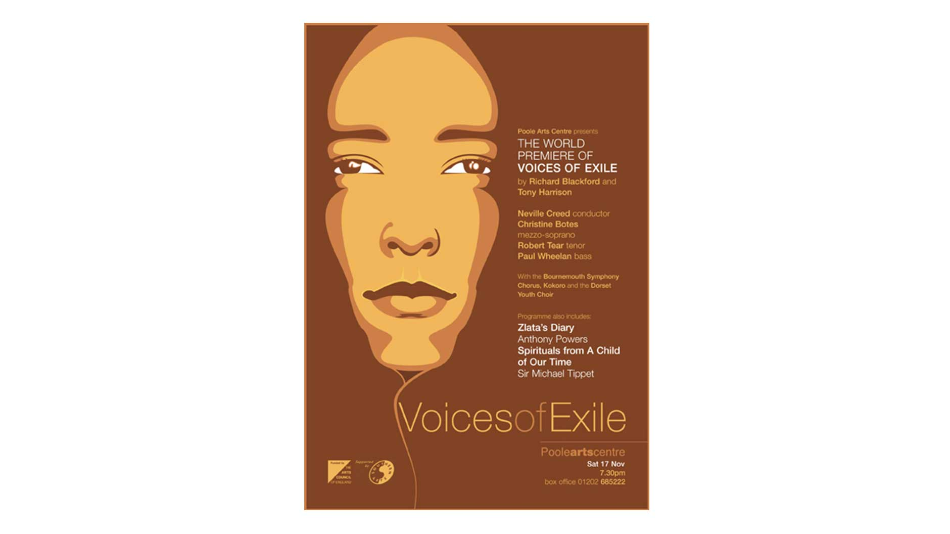 Voices of Exile poster design