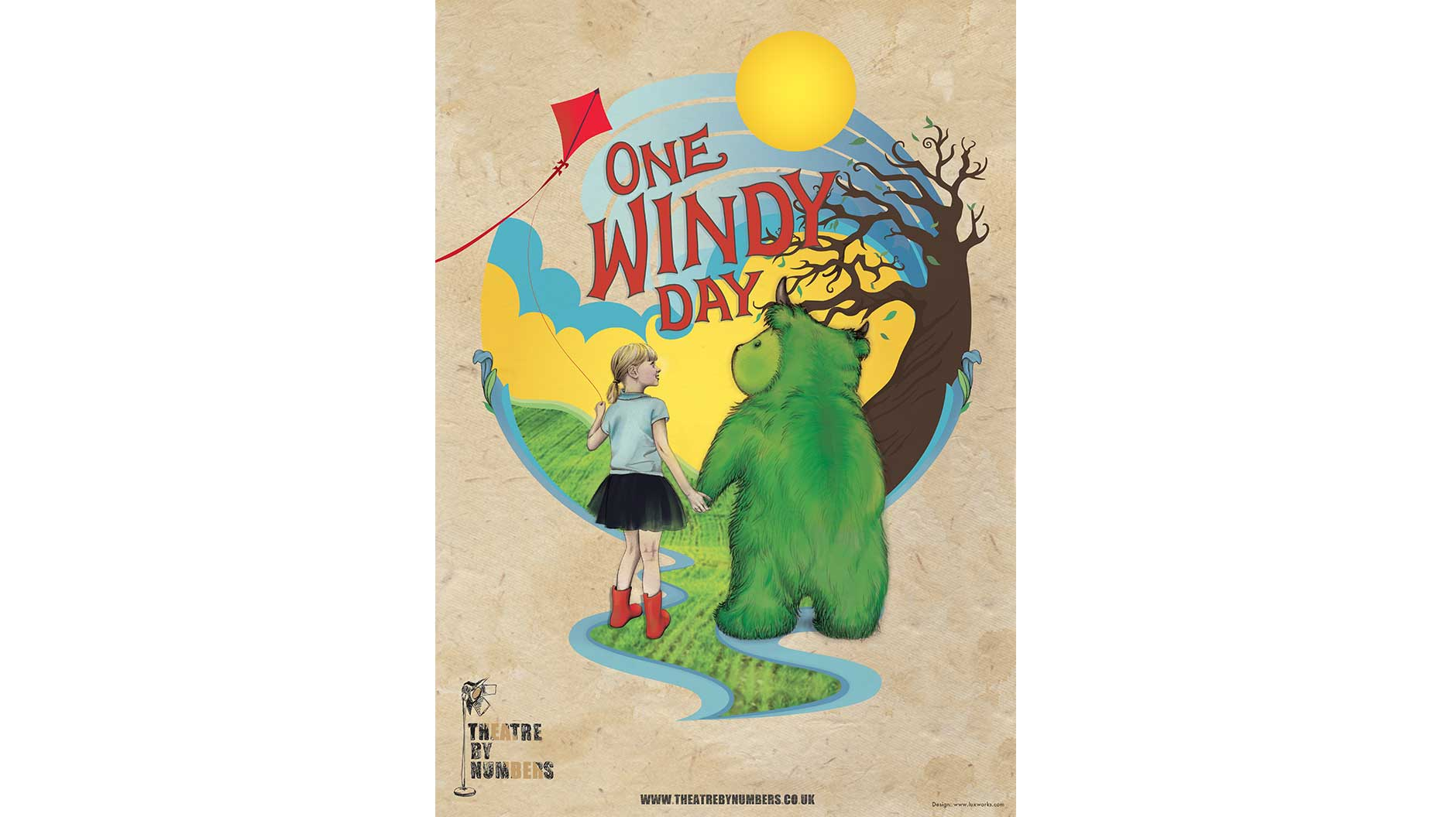 One Windy Day poster and flyer design